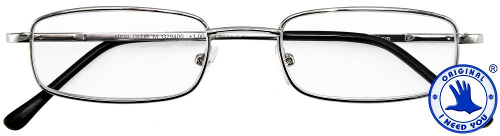 I NEED YOU Lesebrille Lesehilfe Club M silber INY-294XX