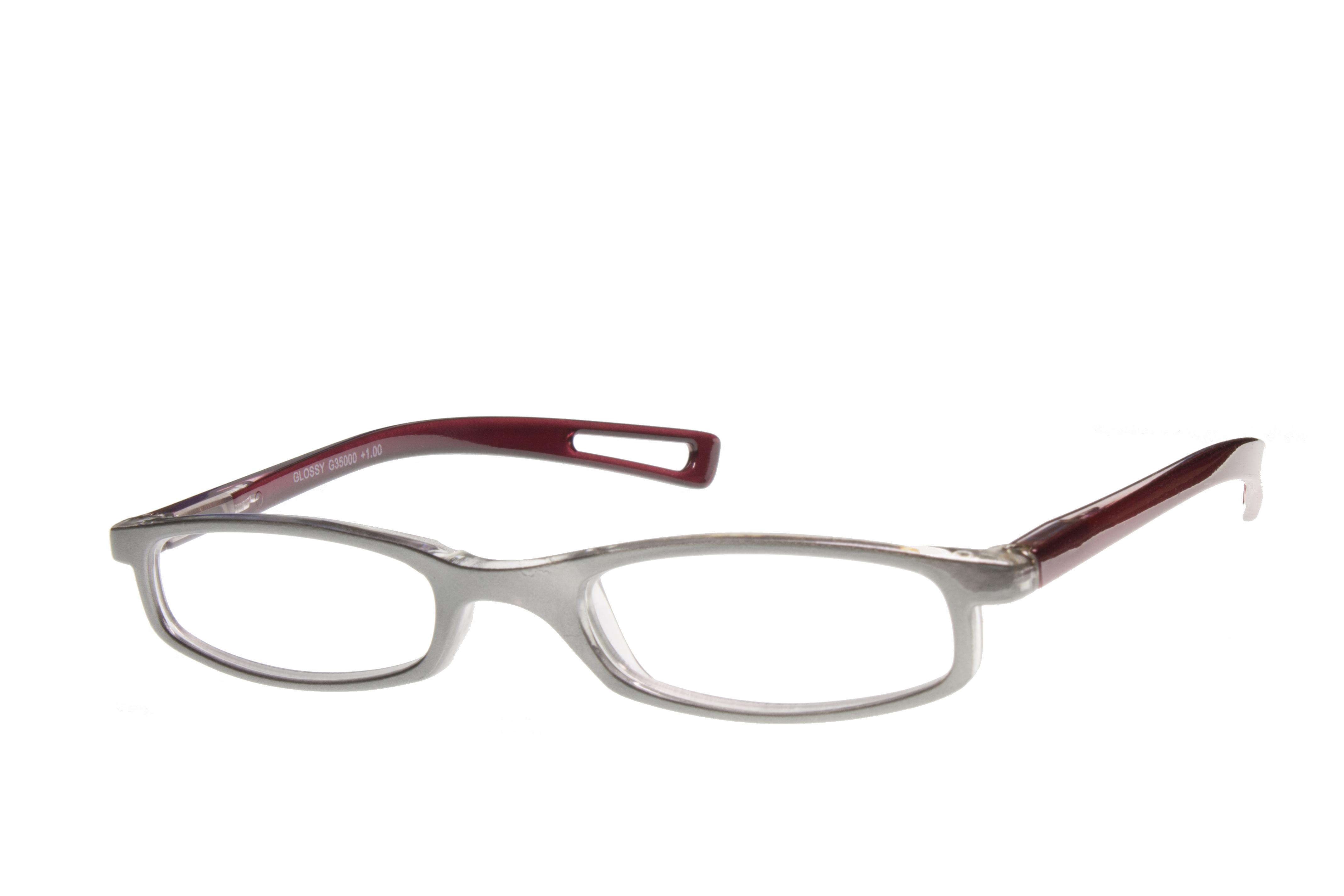 I NEED YOU Lesebrille Lesehilfe Glossy grau-rot  INY-350XX