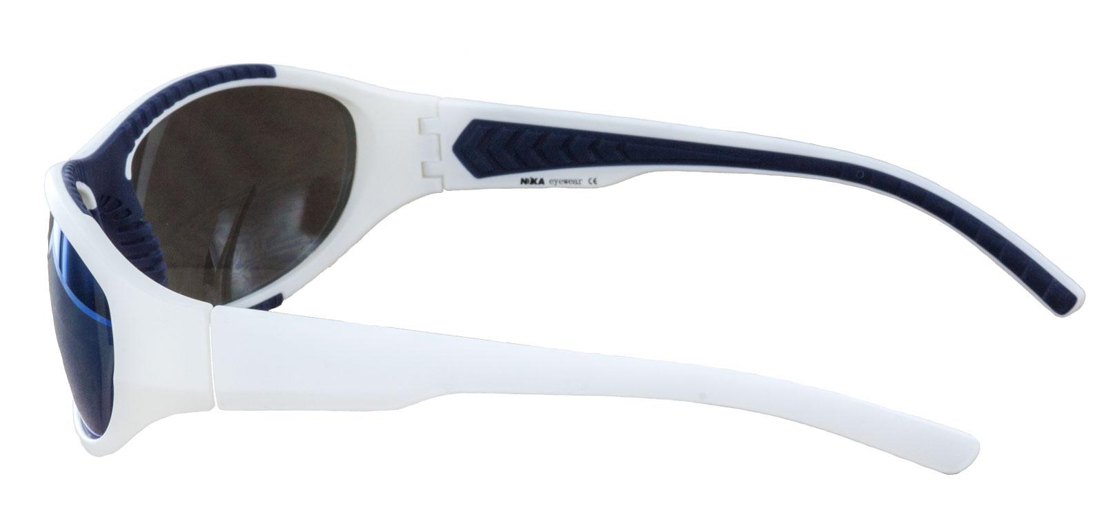 Sonnenbrille weiß blau Unisex Brille Nika Eywear Sportbrille