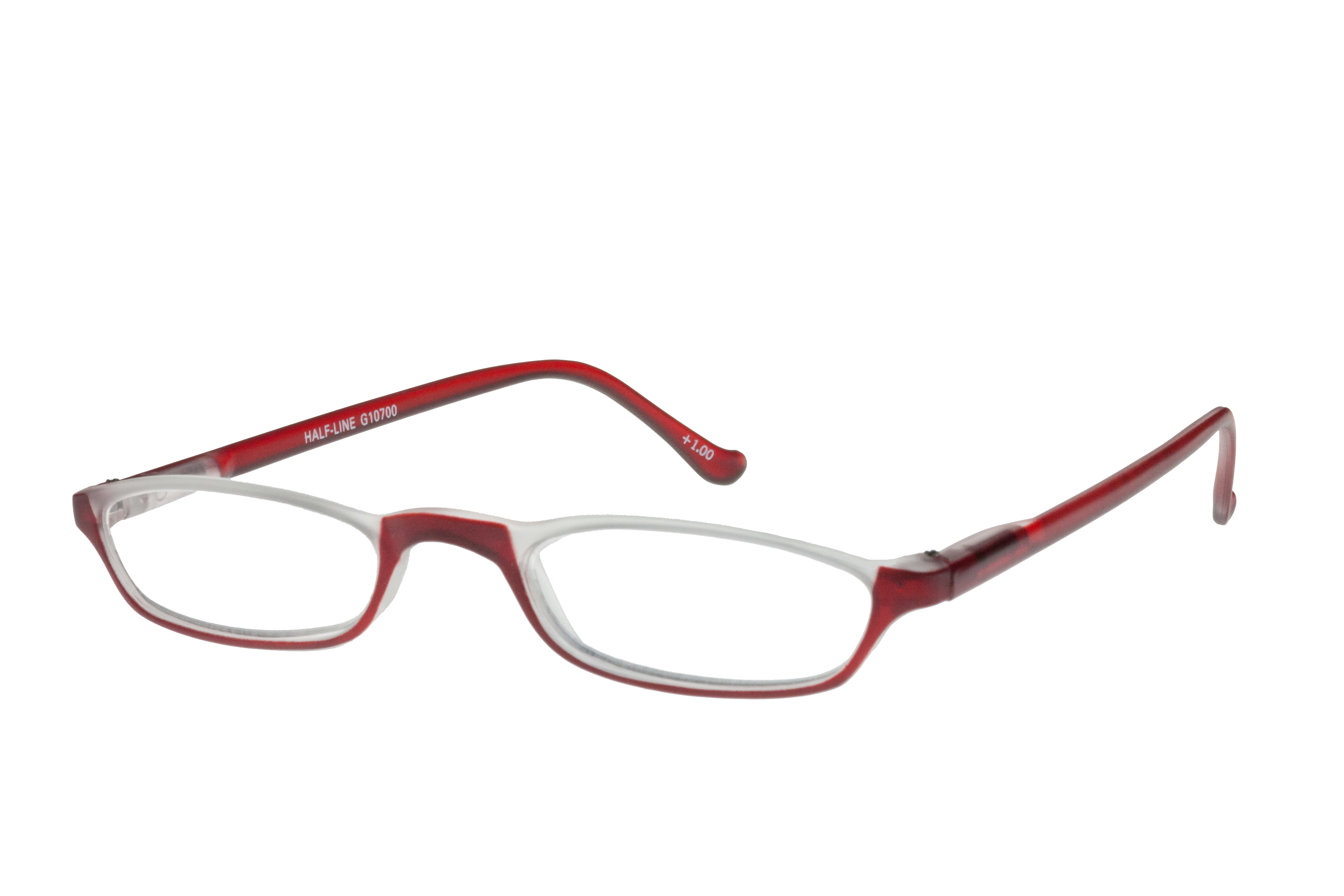Lesebrille I NEED YOU Lesehilfe HALF-LINE rot INY-107XX